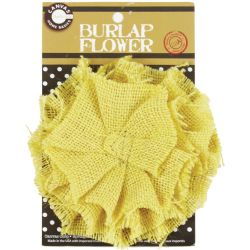 Canvas Corp Burlap Hand Sewn Flower 4